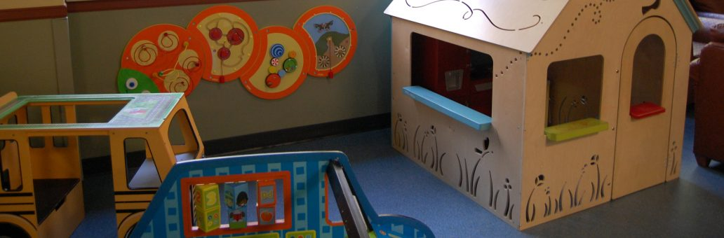 Play area in kitchen at our Seattle House